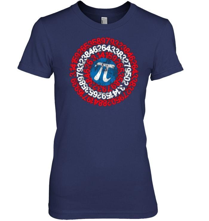 Captain Pi Superhero Shield Shirt for Math Geeks and Nerds