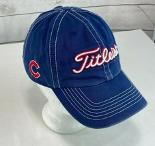 CHICAGO CUBS MLB TITLEIST Blue Golf Baseball Hat Cap Embroidered Dad Slouch - $14.84