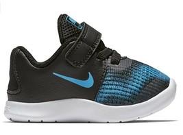 Nike Boy's Flex RN 2018 Toddler Shoes Black/Equator Blue/White, Size 2C BNIB - $39.75