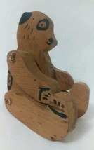Vintage WOOD SHELF SITTER - Jointed Teddy Bear - COUNTRY FOLK ART - $17.82