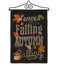 Autumn is Calling Fall Burlap - Impressions Decorative Metal Wall Hanger Garden  - $33.97