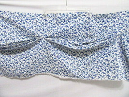 Waverly Kerry Delft Blue Floral Tuck-Pleat 79 x 17 Lined Amanda Valance - $26.00