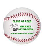 Personalized Custom Class of 2020 Graduation Baseball Gift Green Text - $34.95