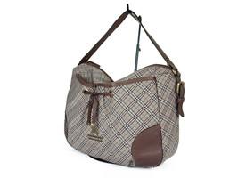BURBERRY LONDON BLUE LABEL Nylon Canvas Leather Browns Shoulder Bag BS0445 - $159.00