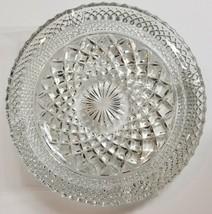 Vintage Diamond Cut Cigarette Ashtray Trinket Glass Anchor Hocking Wexfo... - $14.55