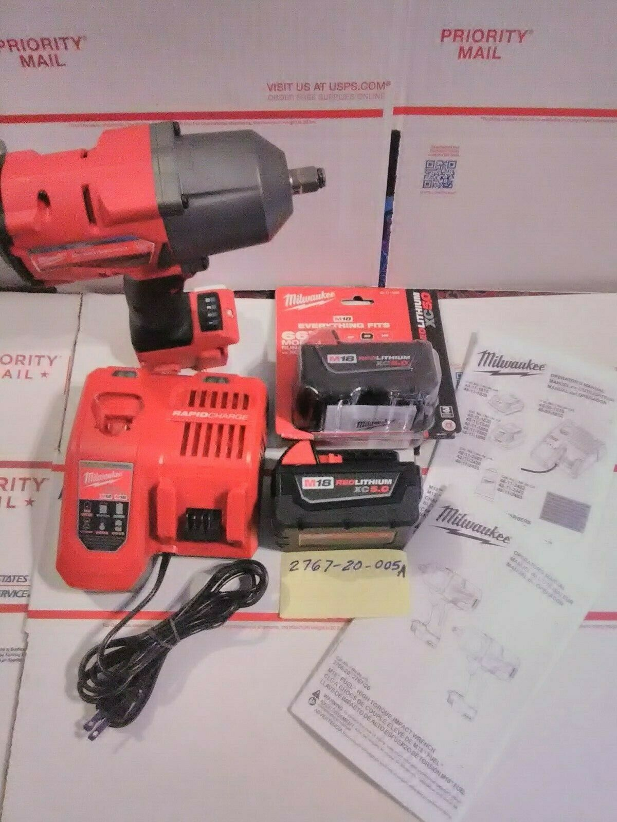 """Milwaukee 2767-20 M18 Fuel 1/2"""" Impact Wrench W/ Friction Ring Kit- 005A- - $544.50"""