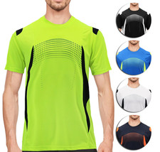 Men's Gym Workout Sport Two Tone Running Performance Quick-Dry T-shirt image 1