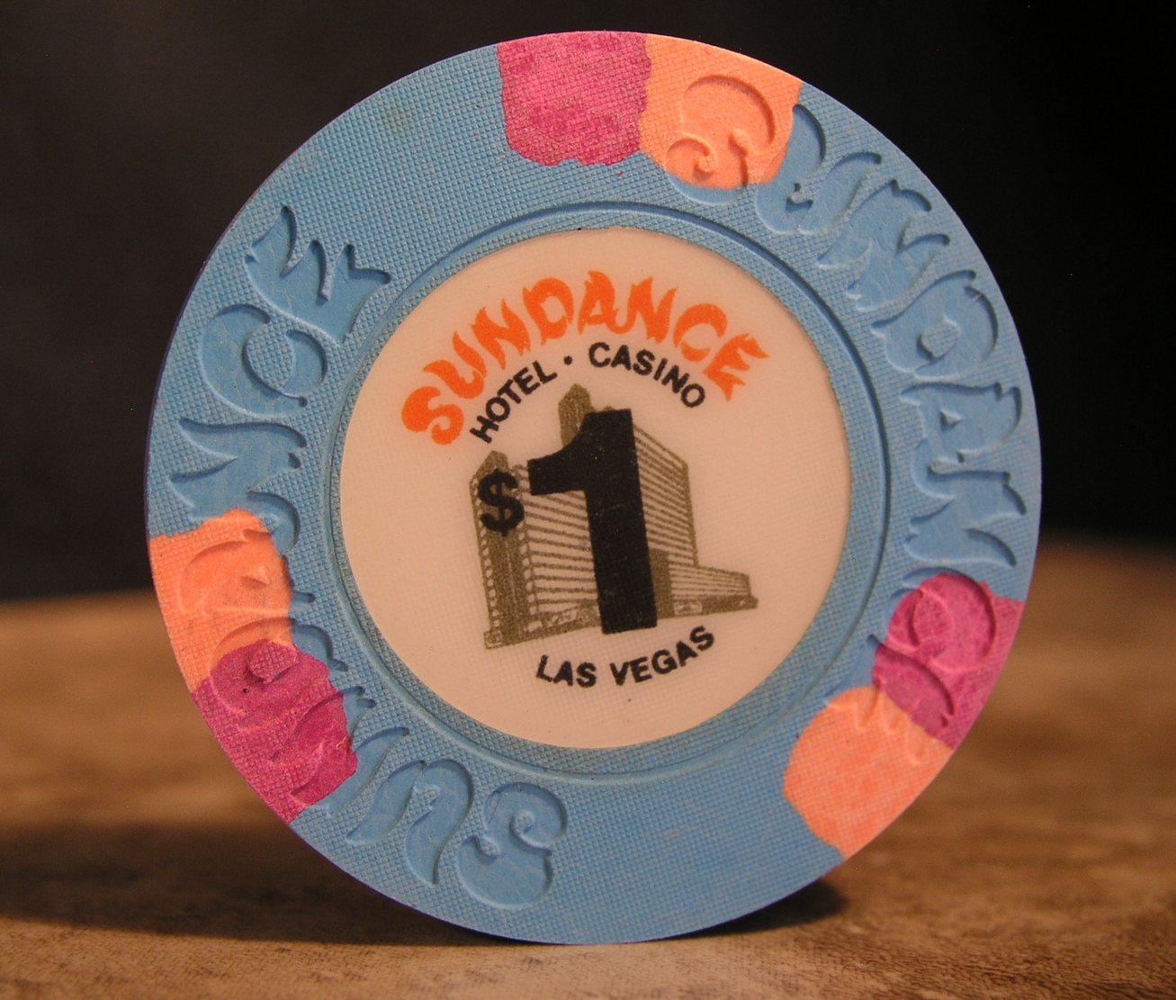 "Primary image for $1.00 Casino Chip From: ""The Sundance Hotel & Casino"" - (sku#2600)"
