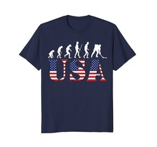 A@A Shop Ice Hockey Shirts Ice Hockey Evolution American Flag Shirt Men - $19.95+