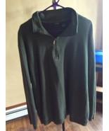 Cherokee Men's  Sweater Pullover Long Sleeve 1/4 Zipper 100% Cotton  Siz... - $9.70