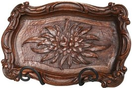 MOUNTAIN Tray Rustic Rectangle Resin Carved Hand-Cast - $129.00