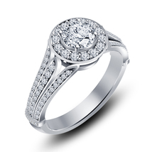 14k White Gold Finish 925 Sterling Silver Womens Wedding Diamond Engagem... - $76.99