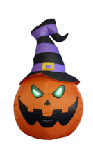 Halloween Inflatable Pumpkin Witch Jack O Lantern Airblown Yard Decor Li... - €46,69 EUR