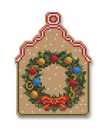 Christmas Wreath Ornament Kit cross stitch Colonial Needle  - $13.50