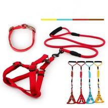 3pcs Pet Dog Collar Harness Leash Soft Training Walking Harness Lead Adj... - $18.90
