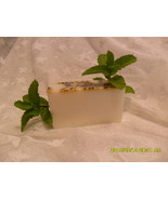 Peppermint Glycerin Soap  1  -  4 Oz Bar  Tingling Refreshing Soap Bar - $3.46