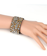 UNITED ELEGANCE Trendy Cuff Wristband With Sparkling Swarovski Style Cry... - $11.99
