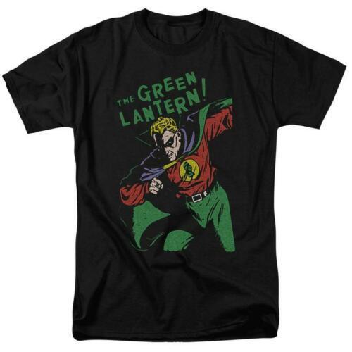 Green lantern t shirt retro 60s dc comic book cartoon superhero black tee dco809