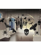 Glitter Haunted House Chandelier Halloween Trick or Treaty Party Decorat... - $12.19