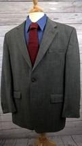 LAUREN RALPH LAUREN Mens Sport Coat Jacket Gray Wool Herringbone Windowp... - $39.99