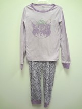 The Childrens Place Princess Kitty Girls Lilac Long Sleeve Pajama Set Size 6 Nwt - $12.16