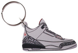 Good Wood NYC White Cement AJ3 3 Sneaker Keychain III Shoe Key Ring key Fob image 1