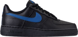Men's Nike Air Force 1 '07 Casual Shoes Black/Gym Blue AA4083 003 - $130.94