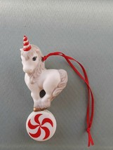 "Vintage 1988 Hallmark Christmas Ornament ""Merry Mint Unicorn""  Porcelain... - $8.59"