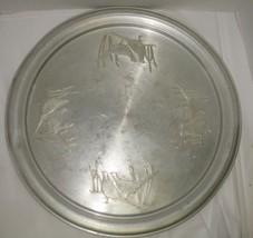 """Vtg Aluminum 18.25"""" Round Pheasant Marsh Rustic... - $18.81"""