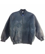 Bliss Leather, Men's Stitched Bomber Jacket, Black Limited Sizes, - $330.00