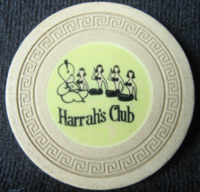"""Rare 1958 Roulette Chip From: """"Harrah's Club of Reno & Tahoe""""- (sku#4956) - $29.99"""