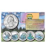 2012 America The Beautiful HOLOGRAM Quarters U.S. Parks 5-Coin Set w/Cap... - €11,57 EUR