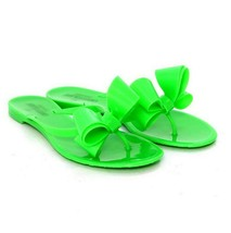 F-84948 New Valentino Neon Green Rubber Plastic Jelly Sandals Size 35 US 5 - $189.62