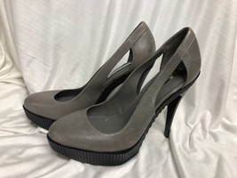 BCBG MAXAZRIA SHOES 'harlow' Platform Heel gray Leather: 9 / 39 - $23.36