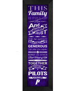 "University of Portland ""Pilots"" 24 x 8 Family Cheer Framed Print - $39.95"