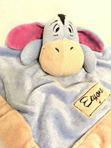 Disney Eeyore Winnie The Pooh Donkey Fleece Baby Lovey Security Blanket Plush - $17.75
