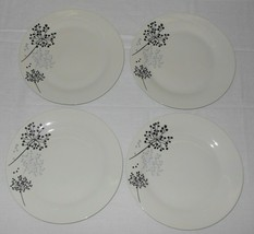 4 Gibson Home Netherwood Porcelain Salad Side Luncheon Plates NWT FREE SHIPPING - $49.49
