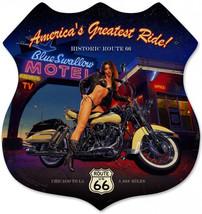 Blue Swallow Shield Plasma Cut Greg Hildebrandt  Metal Sign - $35.00
