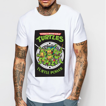 TMNT - Turtle Power Casual White T-shirt Tee for mens - £7.19 GBP+