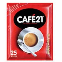 CAFE21 2 IN 1 WHITE ROAST COLOMBIAN ARABICA INSTANT COFFEE MIX 12g x 25 ... - $14.89