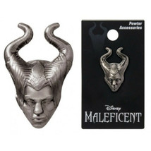 Walt Disney Maleficent 3D Face and Head Deluxe Metal Pewter Pin, NEW UNUSED - $5.94