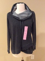 Calvin Klein Pullover Sweatshirt Waffle Gray Shirt Womens S Top Long Sleeve - $25.99