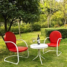 Outdoor Chat Set Bistro Patio Furniture Garden Poolside Cafe Backyard Me... - $178.98