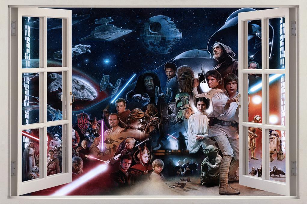 Star Wars Characters Darth Vader 3D Window Decal Wall Sticker Art Mural J693 for sale  USA
