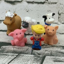 Fisher Price Little People Farm Animals Lot Farmer Pigs Cow Sheep - $24.74