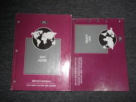 1997 Ford Aspire Servizio Negozio Riparazione Manuale Set 97 OEM W Elett... - $11.87