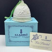 Lladro bell porcelain ornament figurine spain coa Christmas nao 1988 santa claus - $47.52
