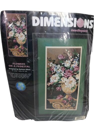 Primary image for Dimensions Needlepoint Flowers On A Pedestal Kit 2488 by Barbara Mock unopened