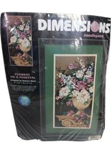 Dimensions Needlepoint Flowers On A Pedestal Kit 2488 by Barbara Mock un... - $70.55