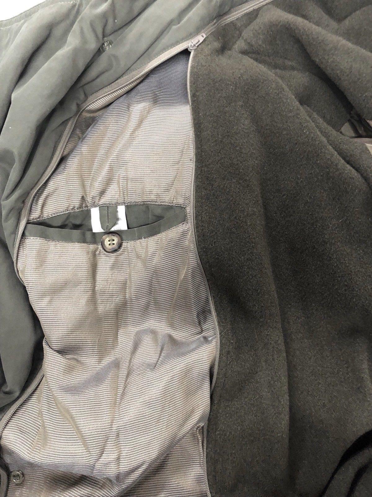 0df4006c1dac5 Vintage Giorgio Armani Collezioni Ivory Beige Perforated Leather. Giorgio  Armani Le Collezioni Mens Trench Coat ...